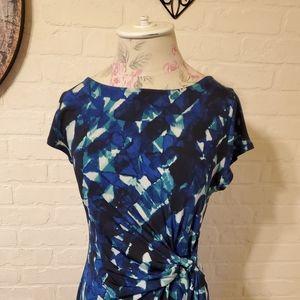 Womens short sleeve wrap dress